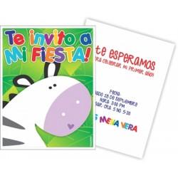 c0203 - Birthday invitations -zebra 3