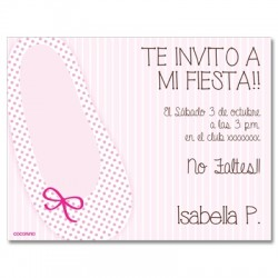 c0208 - Invitaciones de cumpleaños - ballet 5