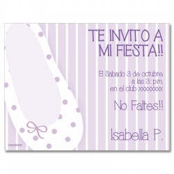 c0209 - Birthday invitations - ballet 5