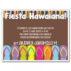 c0216 - Invitaciones de cumpleaños - fiesta hawaiana 2