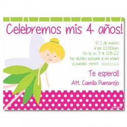 c0220 - Birthday invitations - Tinkerbell