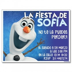 c0221 - Birthday invitations - frozen 1