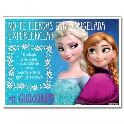 c0223 - Birthday invitations - frozen 3