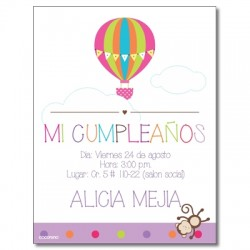 c0227 - Birthday invitations - baloon 2