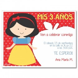 c0229 - Birthday invitations - snow white