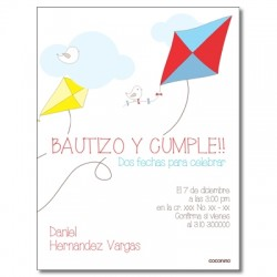 c0230 - Birthday invitations - kite