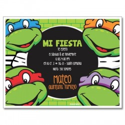 c0235 - Birthday invitations - mutant turtles