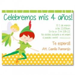 c0239 - Invitaciones de cumpleaños - peter pan