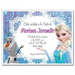 c0242 - Birthday invitations - frozen 5