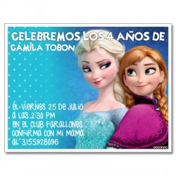 c0243 - Birthday invitations - frozen 6