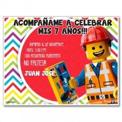 c0245 - Invitaciones de cumpleaños - Lego