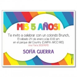c0253 - Birthday invitations - Rainbow