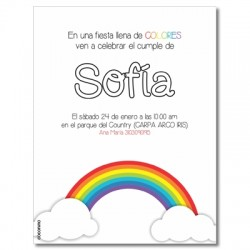c0254 - Birthday invitations - Rainbow