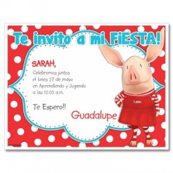 c0258 - Birthday invitations - Piggy
