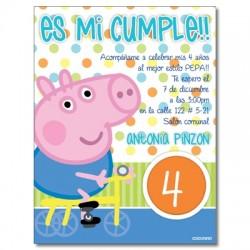 c0261 - Invitaciones de cumpleaños - Cerdito
