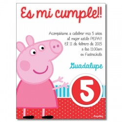 c0262 - Invitaciones de cumpleaños - Cerdito