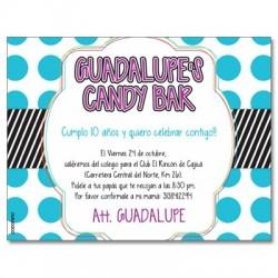 c0264 - Invitaciones de cumpleaños - Candy bar