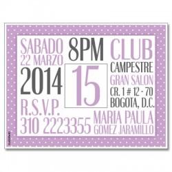 c0267 - Birthday invitations - 15 years