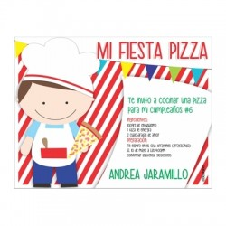 c0269 - Birthday invitations - Pizza party