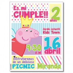 c0270 - Invitaciones de cumpleaños - Peppa pig