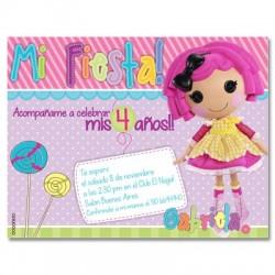 c0274 - Birthday invitations - Doll