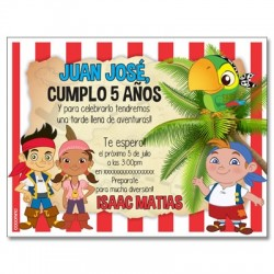 c0283 - Birthday invitations - Jake and the neverland pirates