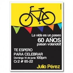 c0285 - Birthday invitations - Bicycle