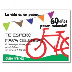 c0286 - Birthday invitations - Bicycle