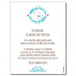 b0082 - Invitaciones - Bautizo