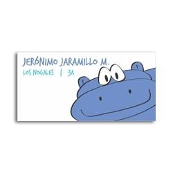 ea0040 - Etiquetas autoadhesivas - Hipopotamo