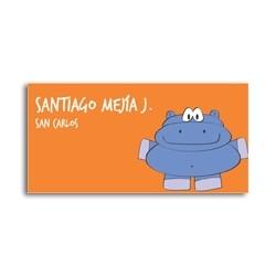 ea0074 - Etiquetas autoadhesivas - Hipopótamo