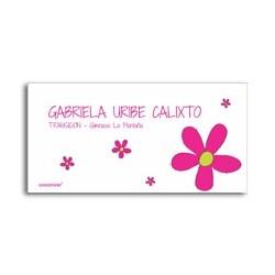 ea0088 - Etiquetas autoadhesivas - Flores