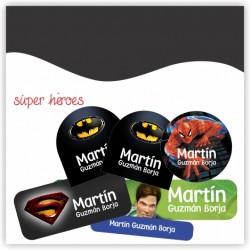 vc0012 - Kit Marca tus cosas - Super heroes.