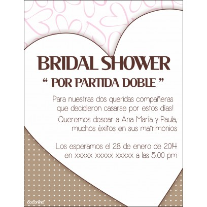 Invitaciones de Shower