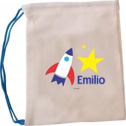 bl0063 - Bolsas de lona - multiproposito - Cohete.