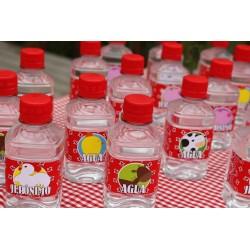 Etiquetas para Bottellas de Agua x4 und.
