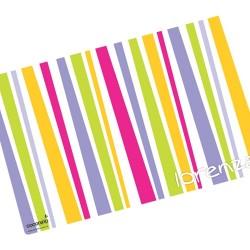 i0004 - Individual de mesa de papel - rayas