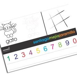 i0006 - Individual de mesa de papel - Números