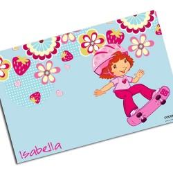 i0016 - Individual de mesa de papel - Fresas