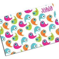 i0023 - Individual de mesa de papel - Aves
