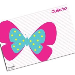 i0028 - Individual de mesa de papel - Mariposa