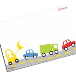 i0030 - Individual de mesa de papel - Carros