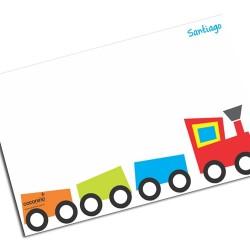 i0031 - Individual de mesa de papel - Tren
