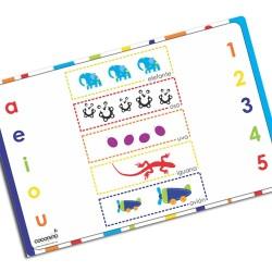 i0032 - Individual de mesa de papel - Vocales