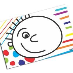 i0034 - Individual de mesa de papel - Carita feliz