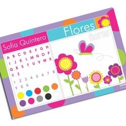 i0047 - Individual de mesa de papel - Flores