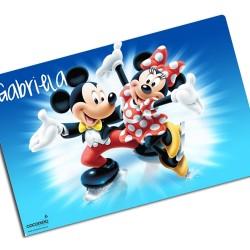 i0069 - Individual de mesa de papel - Micky & Minnie