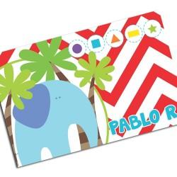 i0104 - Individual de mesa de papel - Elefante