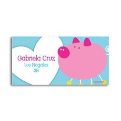 ea0057 - Self-adhesive labels - Pig