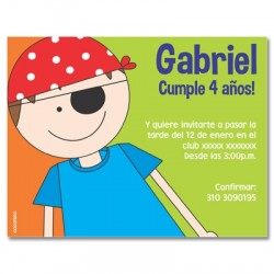 c0103 - Birthday invitations - Pirate